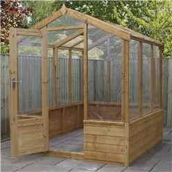 6 x 6 Premier Styrene Glazed Tongue and Groove Greenhouse (No Floor)