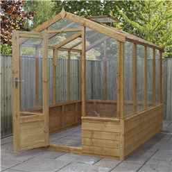 INSTALLED 6 x 8 Premier Styrene Glazed Tongue and Groove Greenhouse (No Floor) INCLUDES INSTALLATION