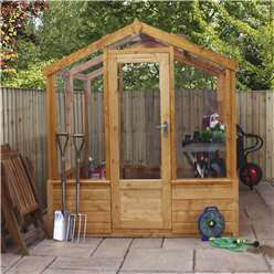 *NEW PRODUCT DUE MID MAY* INSTALLED 6 x 4 Deluxe Glass Tongue and Groove Greenhouse (No Floor) INCLUDES INSTALLATION
