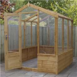 *NEW PRODUCT DUE MID MAY* INSTALLED 6 x 6 Deluxe Glazed Tongue and Groove Greenhouse (No Floor) INCLUDES INSTALLATION