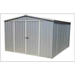 "INSTALLED 9' 10"" x 12'  Premier Regent Zinc Metal Garden Shed (3m x 3.66m) INCLUDES INSTALLATION"