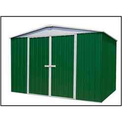 "INSTALLED 9' 10"" x 12' Premier Regent  Eucalyptus Metal Garden Shed (3m x 3.66m) INCLUDES INSTALLATION"