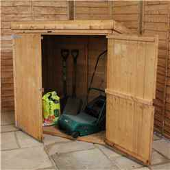5 x 3 Wooden Tongue and Groove Pent Mower Shed with Double Doors - 48HR + SAT Delivery*