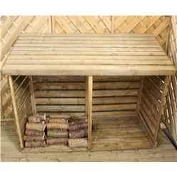 "3 x 6 Pressure Treated Double Log Store (2'8"" x 6'4"")"