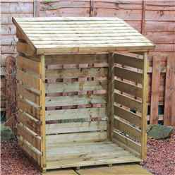 """INSTALLED 3 x 4 Pressure Treated Single Log Store (2'8"""" x 3'6"""") INCLUDES INSTALLATION"""