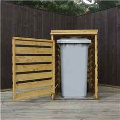 """INSTALLED 3 x 3 Pressure Treated Single Bin Store (2'8"""" x 2'5"""") INCLUDES INSTALLATION"""