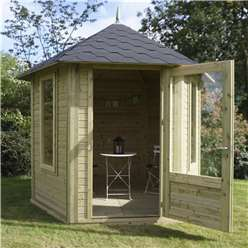 9 x 11 Pressure Treated Tongue and Groove Pavilion (19mm Overlap Roof)