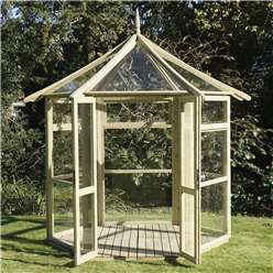 "*NEW PRODUCT DUE MID MAY* 8 x 9 Superior Pressure Treated Glass Greenhouse (8'1"" x 9'3"")"