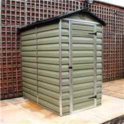6 x 4 Plastic Apex Garden Shed (1.86m x 1.25m) *FREE 24/48 HOUR DELIVERY*