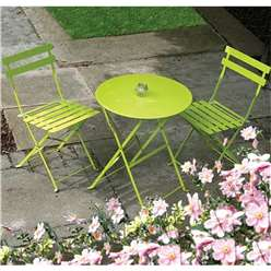 2 Seater APPLE GREEN FOLDING PADSTOW BISTRO SET - Free Next Working Day Delivery (Mon-Fri)