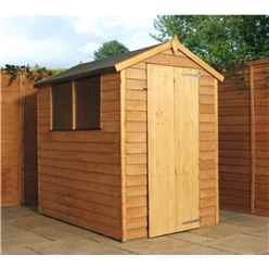 6 x 4 Value Overlap Apex Wooden Shed With 2 Windows And Single Door (10mm Solid OSB Floor) - 48HR + SAT Delivery*