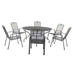 6 Seater Savoy Round Dining Set - 150cm Round Table & 6 Stacking Savoy Chairs - Free Next Working Day Delivery (Mon-Fri)