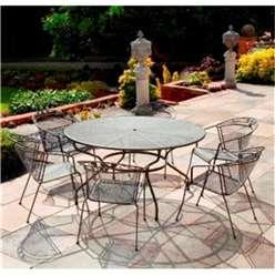6 Seater RG Elegance Round Dining Set - 150cm Round Table with 6 Stacking Elegance Chairs