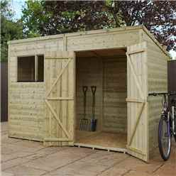 10 x 6 Pressure Treated Tongue and Groove Pent Shed (10mm solid OSB Floor)