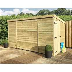 ** NEW ** 9 x 6 Windowless Pressure Treated Tongue And Groove Pent Shed With Side Door (Please Select Left Or Right Door)