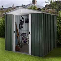 "6'1"" x 6'10"" Apex Metal Shed With FREE Anchor Kit (1.86m x 2.07m)"