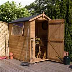 7 x 5 Premier Tongue and Groove Apex Wooden Garden Shed With 1 Window And Single Door (12mm Tongue and Groove Floor and Roof) - 48HR + SAT Delivery*