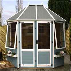 8 x 6 Premier Wooden Octagonal Garden Summerhouse (12mm Tongue and Groove Floor) - 48HR + SAT Delivery*