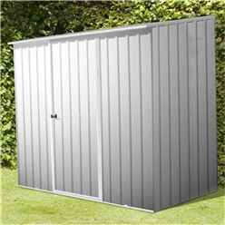 8 x 5 Premier Zinc Metal Garden Shed (2.26m x 1.52m) *FREE 24HR/48HR DELIVERY*