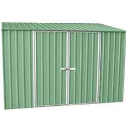 10 x 5 Premier Pale Eucalyptus Metal Garden Shed (3m x 1.52m) *FREE 24HR/48HR DELIVERY*