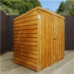 4' 8 x 3 Value Wooden Overlap Pent Mower Shed with Double Doors - 48HR + SAT Delivery*
