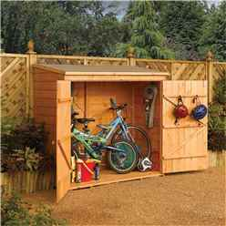 6 x 3 Deluxe Tongue and Groove Wallstore / Bike Shed (1.83m x 0.83m)
