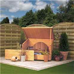 """Deluxe Tongue and Groove Garden Chest 4'6"""" x 2'11"""" (1.38m x 0.9m)"""