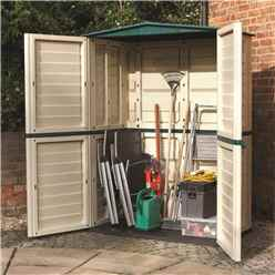 5 x 3 Deluxe Plastic Tall Shed (1.51m x 0.83m)