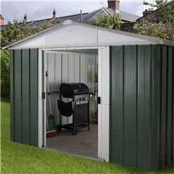 "9'4"" x 12'9"" Apex Metal Shed With FREE Anchor Kit (2.85m x 3.87m)"
