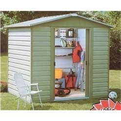 "9'4 "" x 6'1"" Shiplap Apex Metal Shed + Free Anchor Kit (2.85m x 1.86m)"