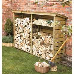 8 x 2 (2.29m x 0.56m) Deluxe Large Log Store