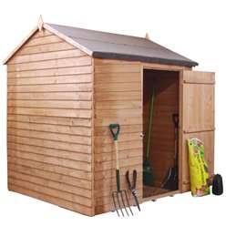 6ft x 6ft Value Windowless Reverse Overlap Apex Shed Single Door (10mm Solid Osb Floor) ***extended Delivery Typically 14 Working Days As Treated As Special - Please See Product Page For More Info