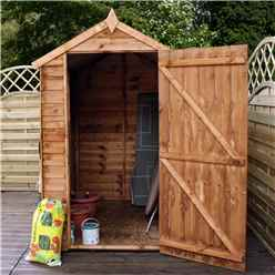 6 x 4 Buckingham Value Wooden Overlap Apex Garden Shed With 1 Window And Single Door (10mm Solid OSB Floor) - 48HR + SAT Delivery*