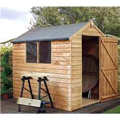 7 x 5 Buckingham Value Wooden Overlap Apex Garden Shed With 2 Windows And Single Door (10mm Solid OSB Floor) - 48HR + SAT Delivery*