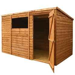 10 x 6 Buckingham Value Overlap Pent Wooden Garden Shed With 1 Window And Single Door (10mm Solid OSB Floor) - 48HR + SAT Delivery*
