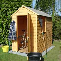 6 x 4 Tongue and Groove Wooden Apex Garden Shed / Workshop (10mm Solid OSB Floor)