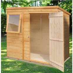 6 x 4 Tongue and Groove Pent Garden Shed / Workshop (10mm Solid OSB Floor)