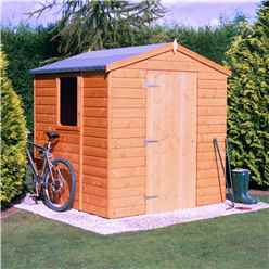 6 x 6 Tongue and Groove Apex Wooden Garden Shed / Workshop with Single Door (12mm Tongue and Groove Floor)