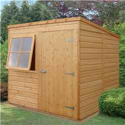 7 x 7 Tongue and Groove Pent Garden Wooden Shed / Workshop (10mm OSB Floor)