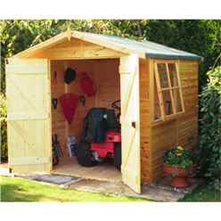 7 x 7 Tongue and Groove Pressure Treated Wooden Apex Shed (12mm Tongue and Groove Floor)