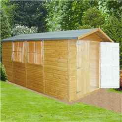 13 x 7 Tongue and Groove Pressure Treated Wooden Apex Shed (12mm Tongue and Groove Floor)