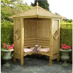 4 x 4 Wooden Corner Arbour