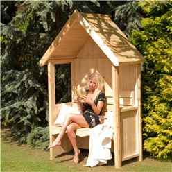 4' 5 x 2 Wooden Seat Arbour